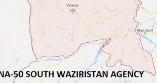 NA-50 South Waziristan Agency Google Area Locaton Map Election 2018 National Assembly Constituency (Halqa)-min