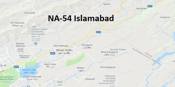 NA 54 Islamabad Google Area Location Map Election 2018 National Assembly Constituency (Halqa)-min