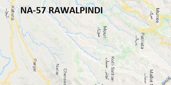 NA 57 Rawalpindi Area Google Area Location Map Election 2018 National Assembly Constituency (Halqa)-min