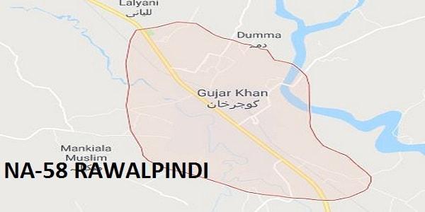 NA 58 Rawalpindi Area Google Area Location Map Election 2018 National Assembly Constituency (Halqa)-min