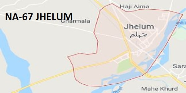 NA 67 Jhelum Google Area Location Map Election 2018 National Assembly Constituency (Halqa)-min