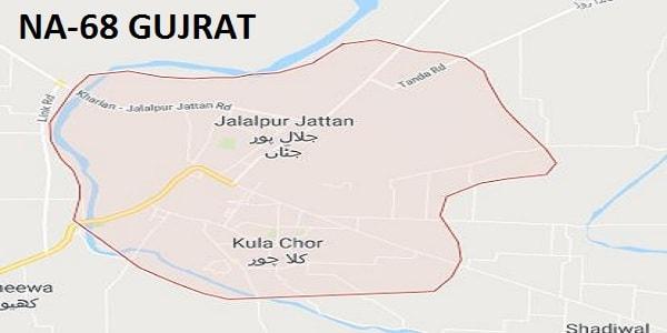 NA 68 Gujrat Google Area LocatIon Map Election 2018 National Assembly Constituency (Halqa)-min