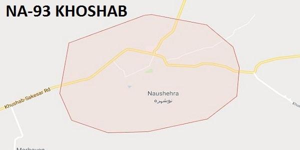 NA 93 Khoshab Google Area Location Map Election 2018 National Assembly constituency (Halqa)-min