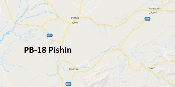 PB 18 Pishin Google Area Location Map Election 2018 Balochistan Assembly constituency (Halqa)-min