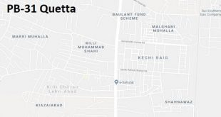 PB 31 Quetta Google Area Location Map Election 2018 Balochistan Assembly constituency (Halqa)-min