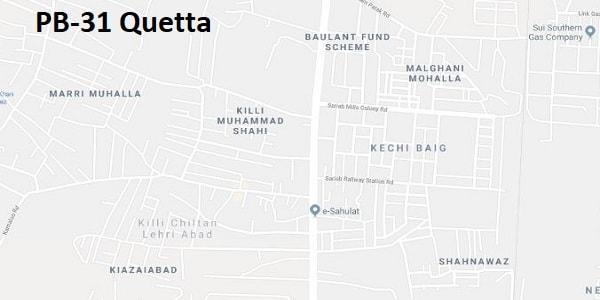 PB 31 Quetta Google Area Location Map Election 2018 Balochistan Assembly constituency (Halqa)-min