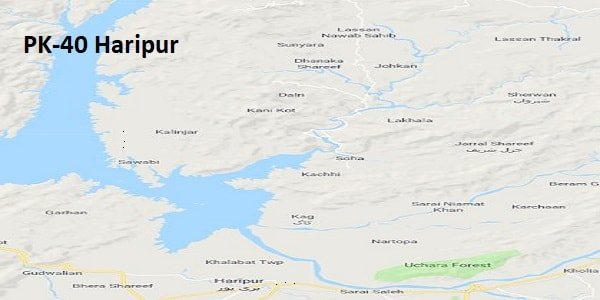 PK 40 Haripur Google Area Location Map Election 2018 KPK Assembly constituency (Halqa)-min