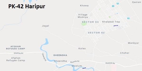 PK 42 Haripur Google Area Location Map Election 2018 KPK Assembly constituency (Halqa)-min