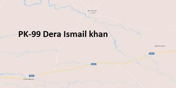 PK 99 Dera Ismail Khan Google Area Location Map Election 2018 KPK Assembly constituency (Halqa)-min