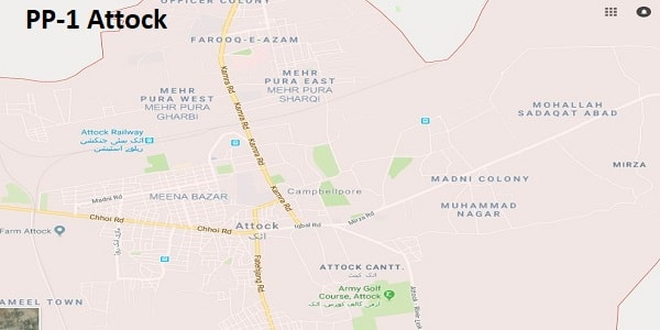 PP 1 Attock Google Area Location Map Election 2018 Punjab Assembly constituency (Halqa)-min