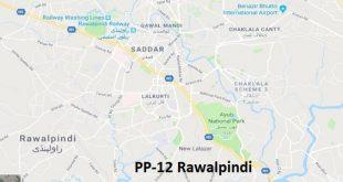 PP 12 Rawalpindi Google Area Location Map Election 2018 Punjab Assembly constituency (Halqa)-min
