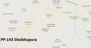 PP 143 Sheikhupura Google Area Location Map Election 2018 Punjab Assembly constituency (Halqa)-min
