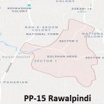 PP 15 Rawalpindi Google Area Location Map Election 2018 Punjab Assembly constituency (Halqa)-min