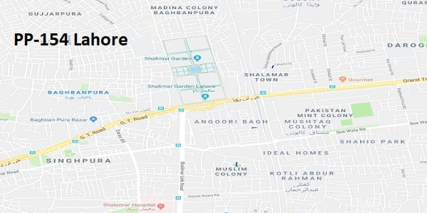 PP 154 Lahore Election Result 2018 – Candidates and Map – Paki Mag