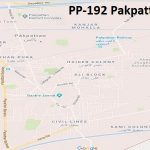PP 192 Pakpattan Google Area Location Map Election 2018 Punjab Assembly constituency (Halqa)-min