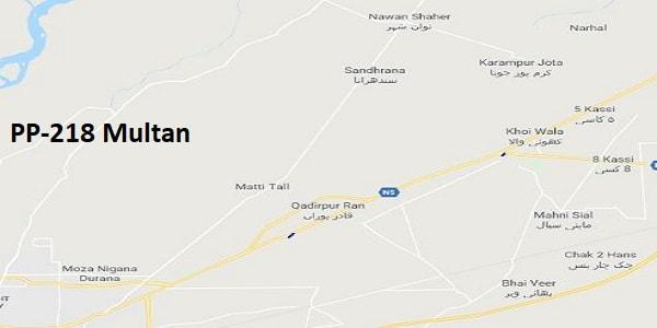 PP 218 Multan Google Area Location Map Election 2018 Punjab Assembly constituency (Halqa)-min