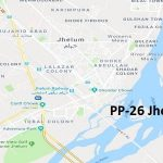 PP 26 Jhelum Google Area Location Map Election 2018 Punjab Assembly constituency (Halqa)-min