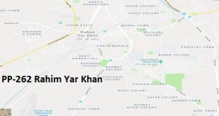 PP 262 Rahim Yar Khan Google Area Location Map Election 2018 Punjab Assembly constituency (Halqa)-min