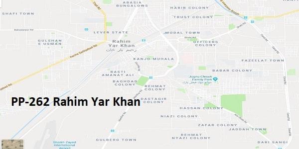 PP 262 Rahim Yar Khan Google Area Location Map Election 2018 Punjab Assembly constituency (Halqa)-min
