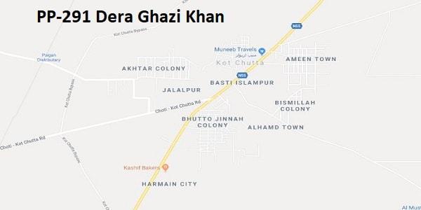 PP 291 Dera Ghazi Khan Google Area Locaton Map Election 2018 Punjab Assembly constituency (Halqa)-min