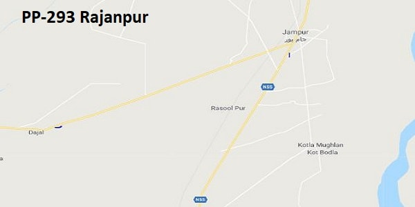 PP 293 Rajanpur Google Area Location Map Election 2018 Punjab Assembly constituency (Halqa)-min