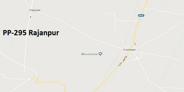 PP 295 Rajanpur Google Area Location Map Election 2018 Punjab Assembly constituency (Halqa)-min
