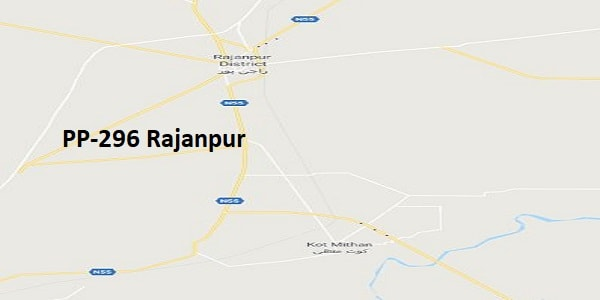 PP 296 Rajanpur Google Area Location Map Election 2018 Punjab Assembly constituency (Halqa)-min