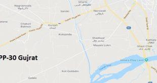 PP 30 Gujrat Google Area Location Map Election 2018 Punjab Assembly constituency (Halqa)-min