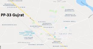 PP 33 Gujrat Google Area Location Map Election 2018 Punjab Assembly constituency (Halqa)-min