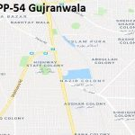 PP 54 Gujranwala Google Area Location Map Election 2018 Punjab Assembly constituency (Halqa)-min