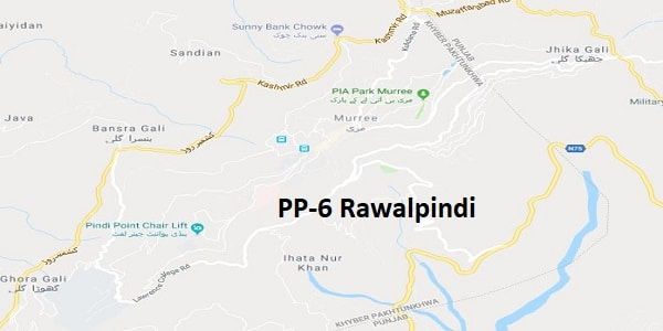 PP 6 Rawalpindi Google Area Location Map Election 2018 Punjab Assembly constituency (Halqa)-min