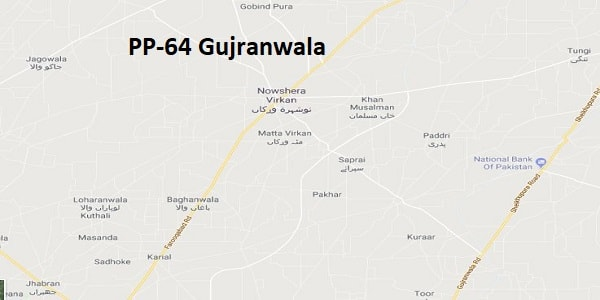 pp 64 gujranwala election result 2018  u2013 candidates and map  u2013 paki mag