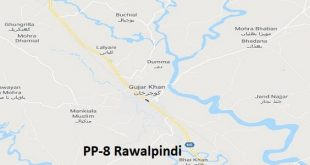 PP 8 Rawalpindi Google Area Location Map Election 2018 Punjab Assembly constituency (Halqa)-min