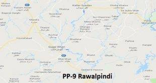 PP 9 Rawalpindi Google Area Location Map Election 2018 Punjab Assembly constituency (Halqa)-min