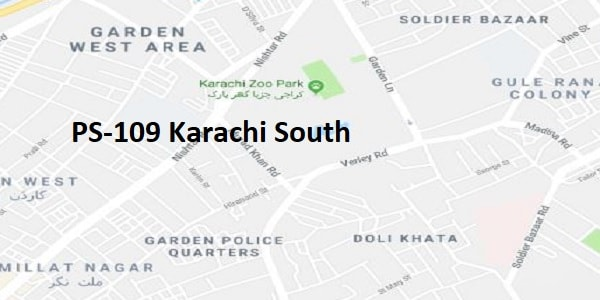PS 109 Karachi South Google Area Location Map Election 2018 Sindh Assembly constituency (Halqa)-min