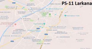 PS 11 Larkana Google Area Location Map Election 2018 Sindh Assembly constituency (Halqa)-min