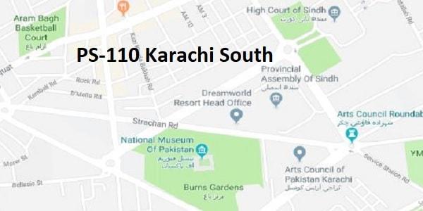 PS 110 Karachi South Google Area Location Map Election 2018 Sindh Assembly constituency (Halqa)-min