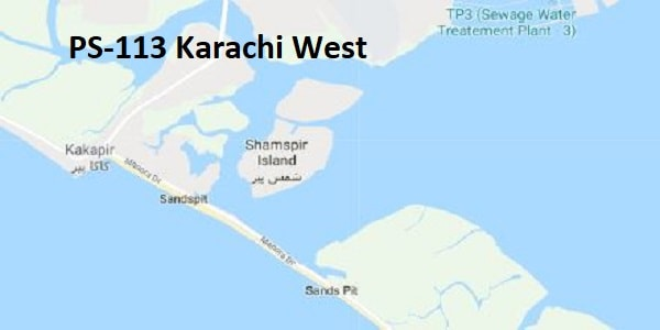 PS 113 Karachi West Google Area Location Map Election 2018 Sindh Assembly constituency (Halqa)-min