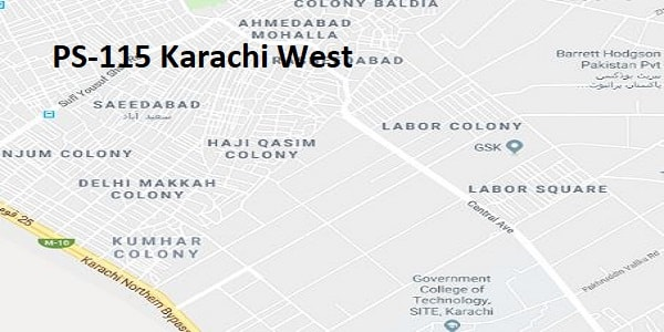 PS 115 Karachi West Google Area Location Map Election 2018 Sindh Assembly constituency (Halqa)-min