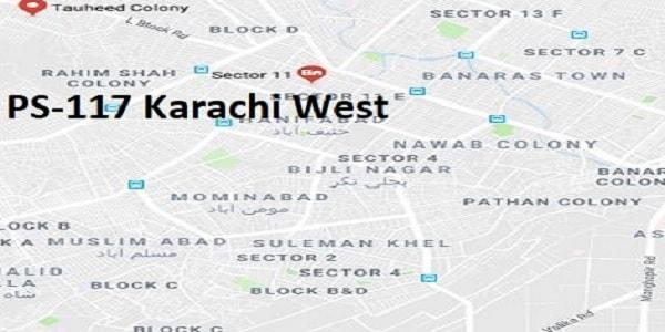 PS 117 Karachi West Google Area Location Map Election 2018 Sindh Assembly constituency (Halqa)-min