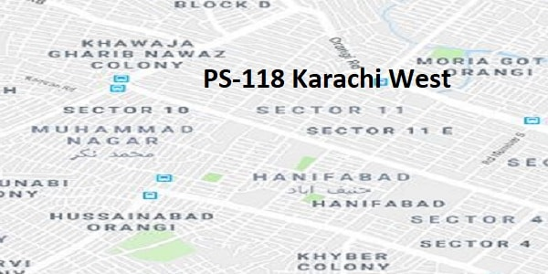 PS 118 Karachi West Google Area Location Map Election 2018 Sindh Assembly constituency (Halqa)-min