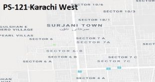 PS 121 Karachi West Google Area Location Map Election 2018 Sindh Assembly constituency (Halqa)-min