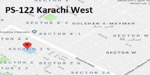 PS 122 Karachi West Google Area Location Map Election 2018 Sindh Assembly constituency (Halqa)-min