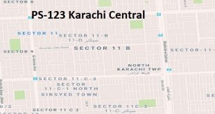 PS 123 Karachi Central Google Area Location Map Election 2018 Sindh Assembly constituency (Halqa)-min