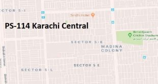 PS 124 Karachi Central Google Area Location Map Election 2018 Sindh Assembly constituency (Halqa)-min