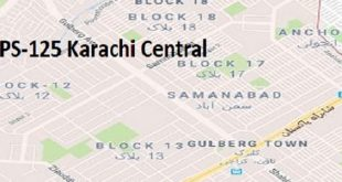 PS 125 Karachi Central Google Area Location Map Election 2018 Sindh Assembly constituency (Halqa)-min