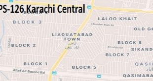 PS 126 Karachi Central Google Area Location Map Election 2018 Sindh Assembly constituency (Halqa)-min