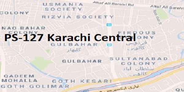 PS 127 Karachi Central Google Area Location Map Election 2018 Sindh Assembly constituency (Halqa)-min