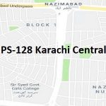 PS 128 Karachi Central Google Area Location Map Election 2018 Sindh Assembly constituency (Halqa)-min