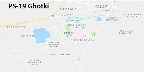 PS 19 Ghotki Google Area Location Map Election 2018 Sindh Assembly constituency (Halqa)-min